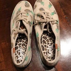 Pineapple print Keds athletic shoes